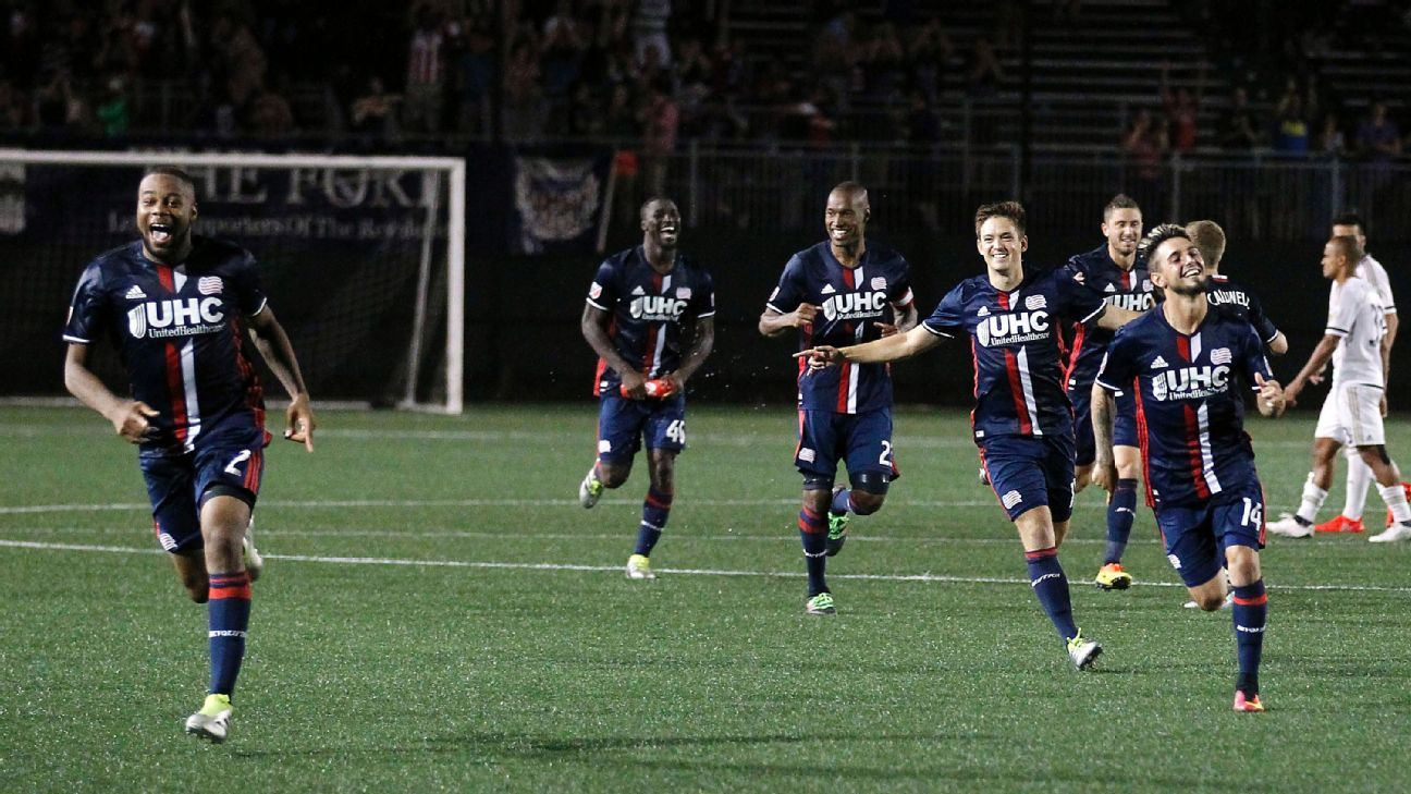 U.S. Open Cup: Revs beat Union on penalties; FC Dallas leave it late