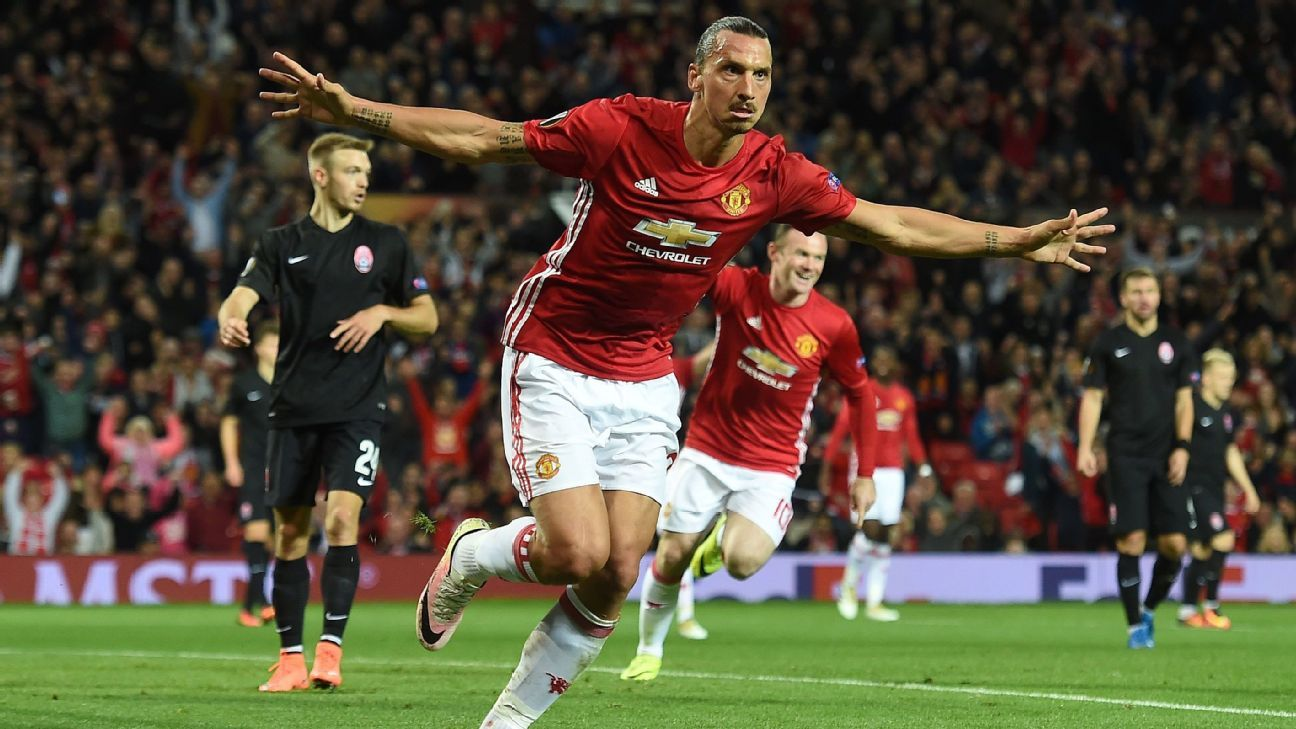 Zlatan Ibrahimovic lifts Man United as Inter lose again in Europa League