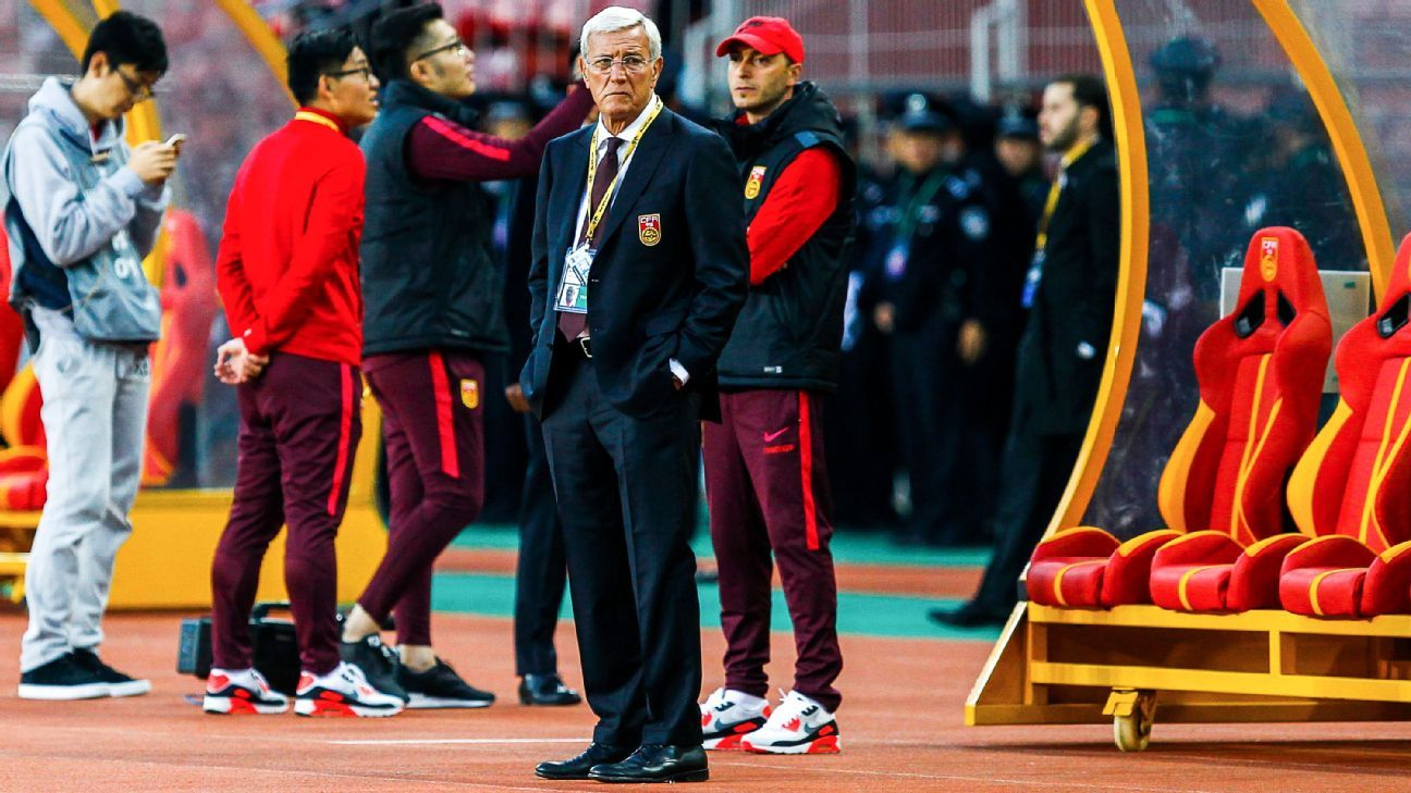 Marcello Lippi's China held to a draw by Palestine