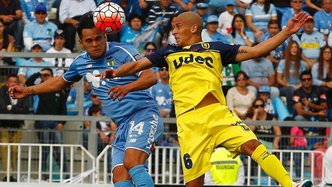 Camargo scores Beckham-like stunner from behind halfway line in Chile