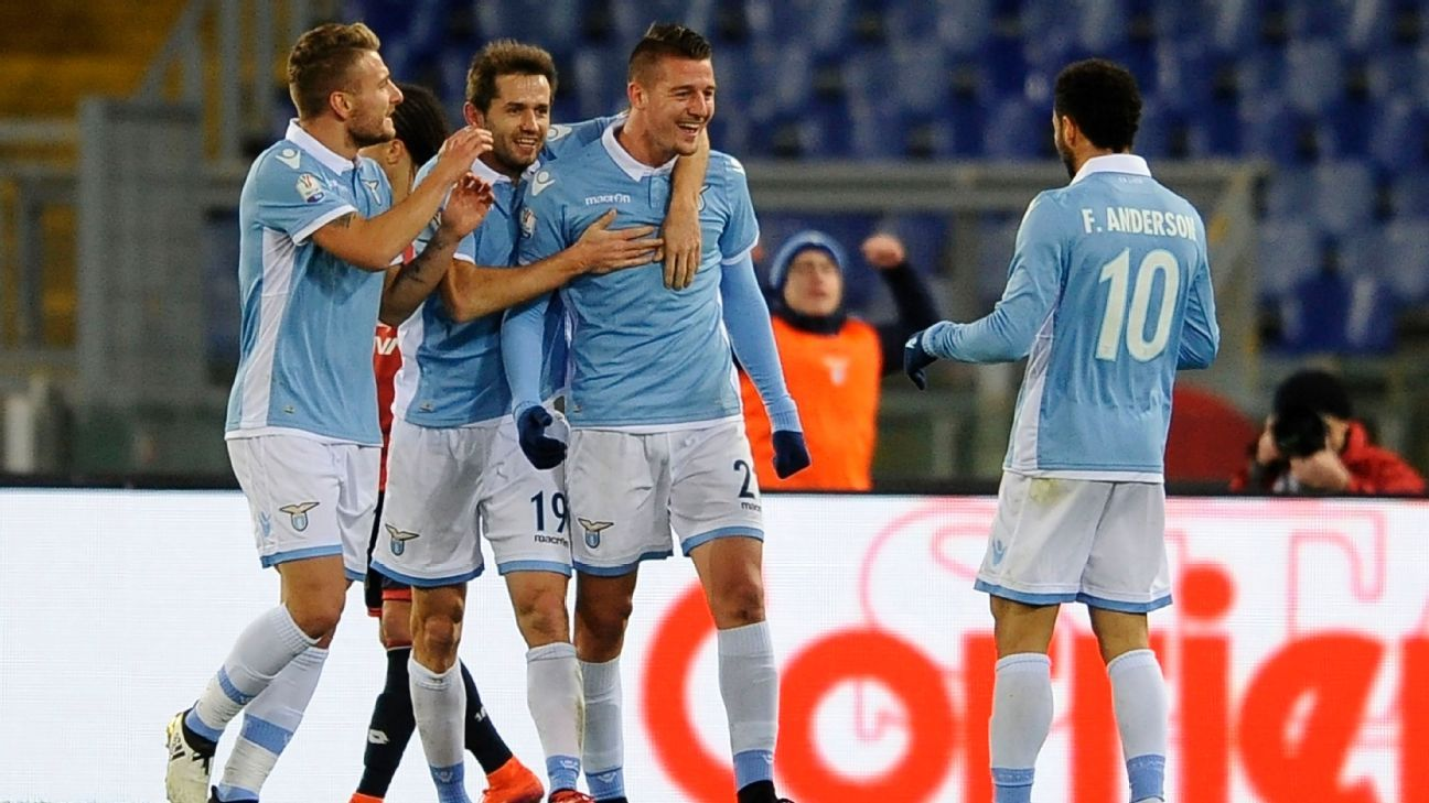 Lazio set up quarterfinal against Inter Milan; Cesena stun Sassuolo