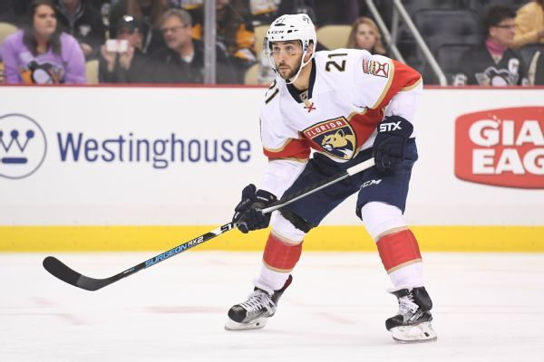 Panthers' Vincent Trocheck taken off ice on stretcher with leg injury