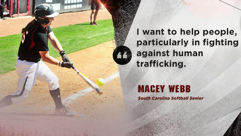 Up next for South Carolina's Macey Webb: law school