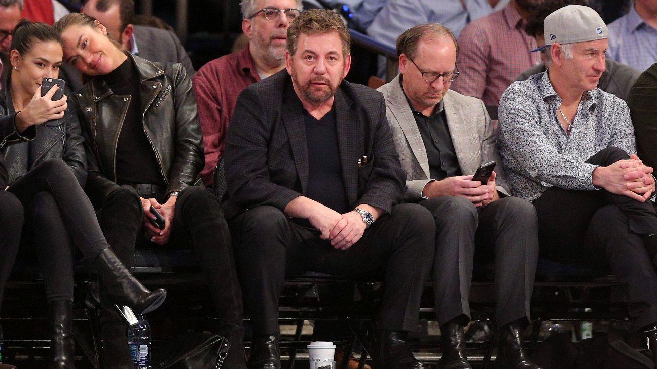 MSG niega que Dolan corteje ofertas para vender Knicks