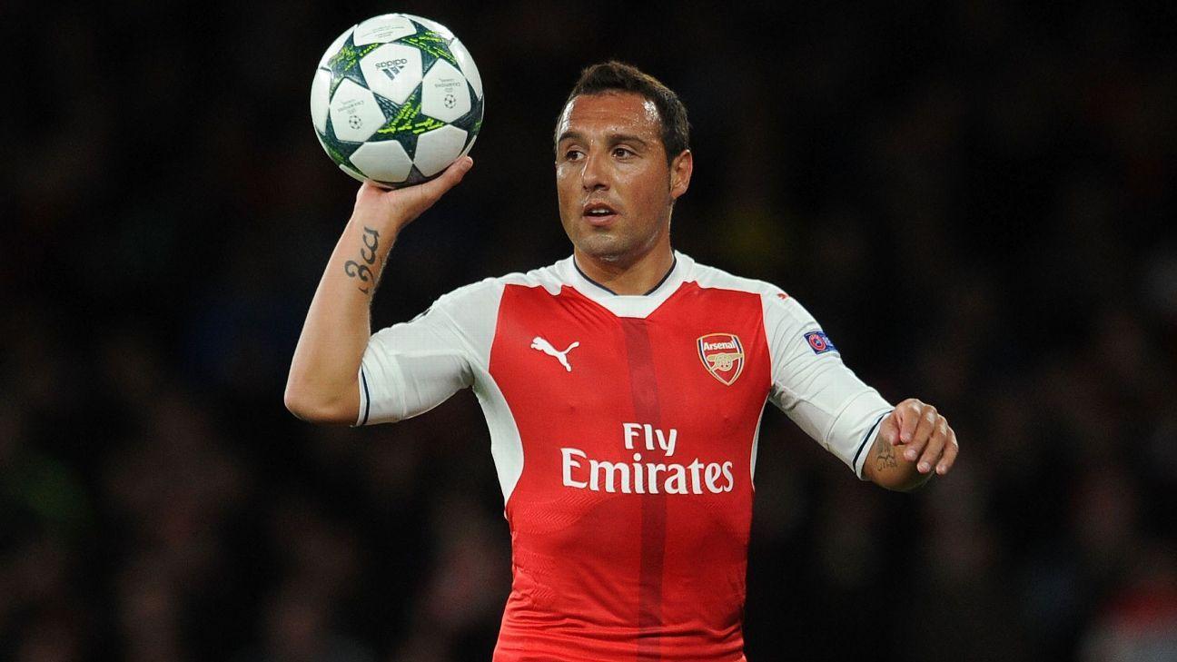 Arsenal's Santi Cazorla trains with former club Real Oviedo