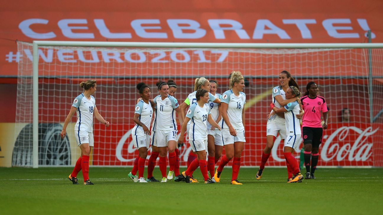 England thrash Scotland with Jodie Taylor hat trick at Euro