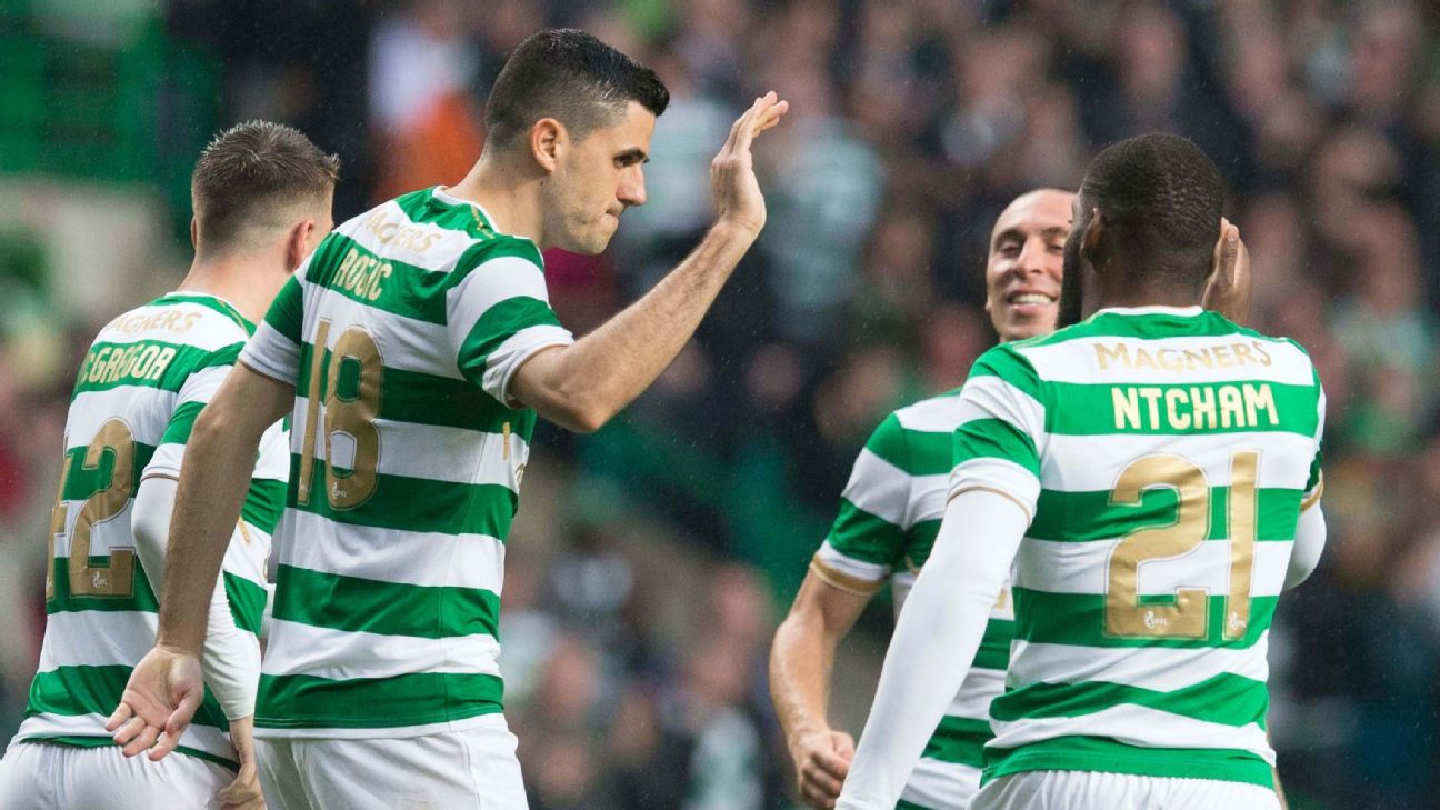 Scott Sinclair scores twice as Celtic ease past Linfield