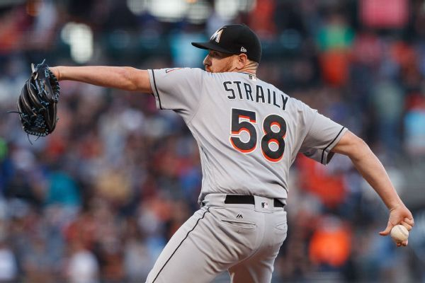 Starting pitcher Straily released by Marlins