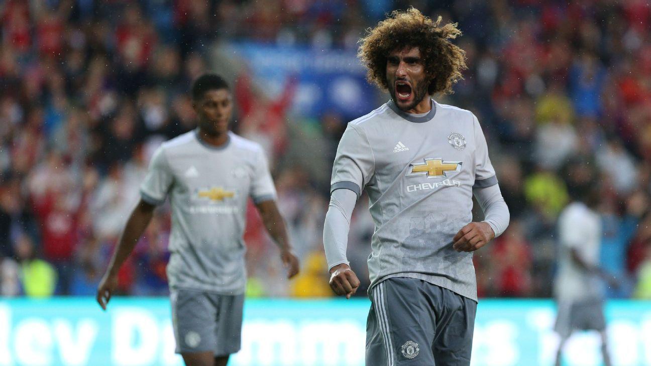 Marouane Fellaini scores as Man United beat Valerenga in Oslo