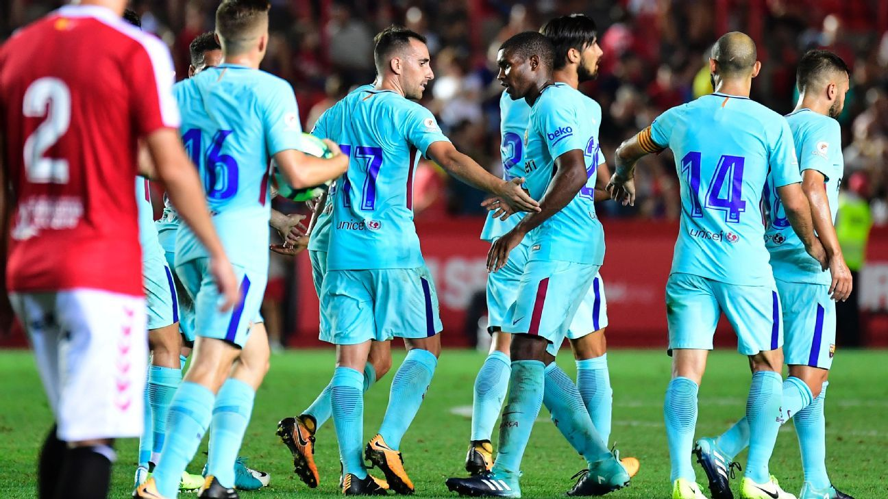 Paco Alcacer scores but Barcelona held to draw in friendly
