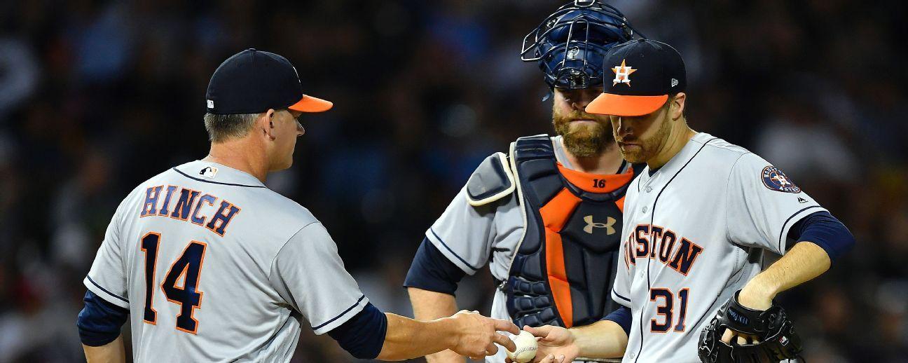 Astros envía a Collin McHugh a lista lesionados
