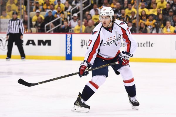 Caps' Oshie will miss time after push into boards