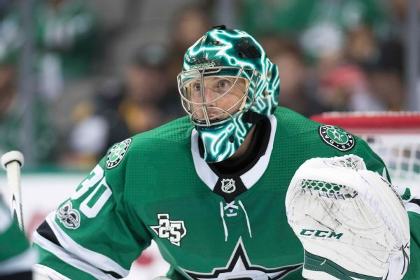 Anton Khudobin to carry Stars' goalie load with Ben Bishop injured