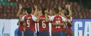 Vega strikes twice as Paraguay beat NZ