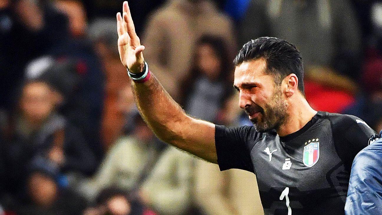 Rakitic oferece lugar na Copa para Buffon, e goleiro brinca: 'Jogar de meia não seria grande ideia'