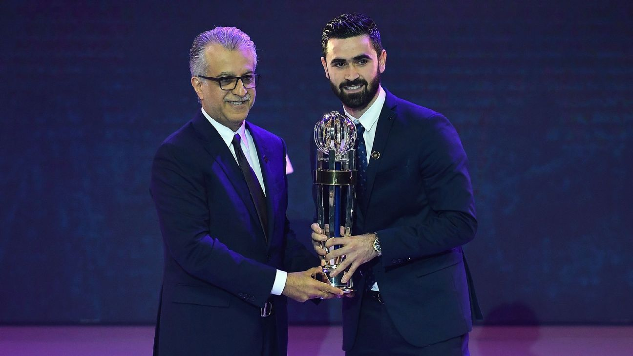 Omar Khrbin and Son Heung-Min win prizes at AFC awards