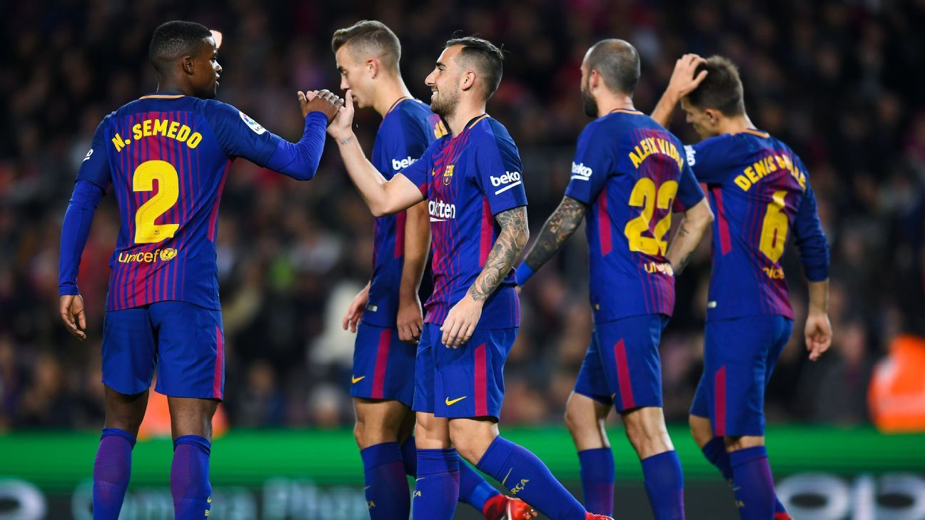 Barcelona reach Copa del Rey last 16 with rout of Murcia