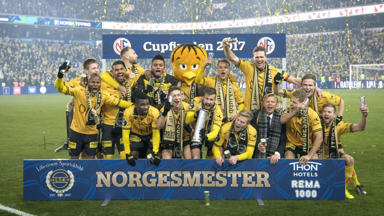 Lillestrom player criticised for posing naked with Norwegian Cup