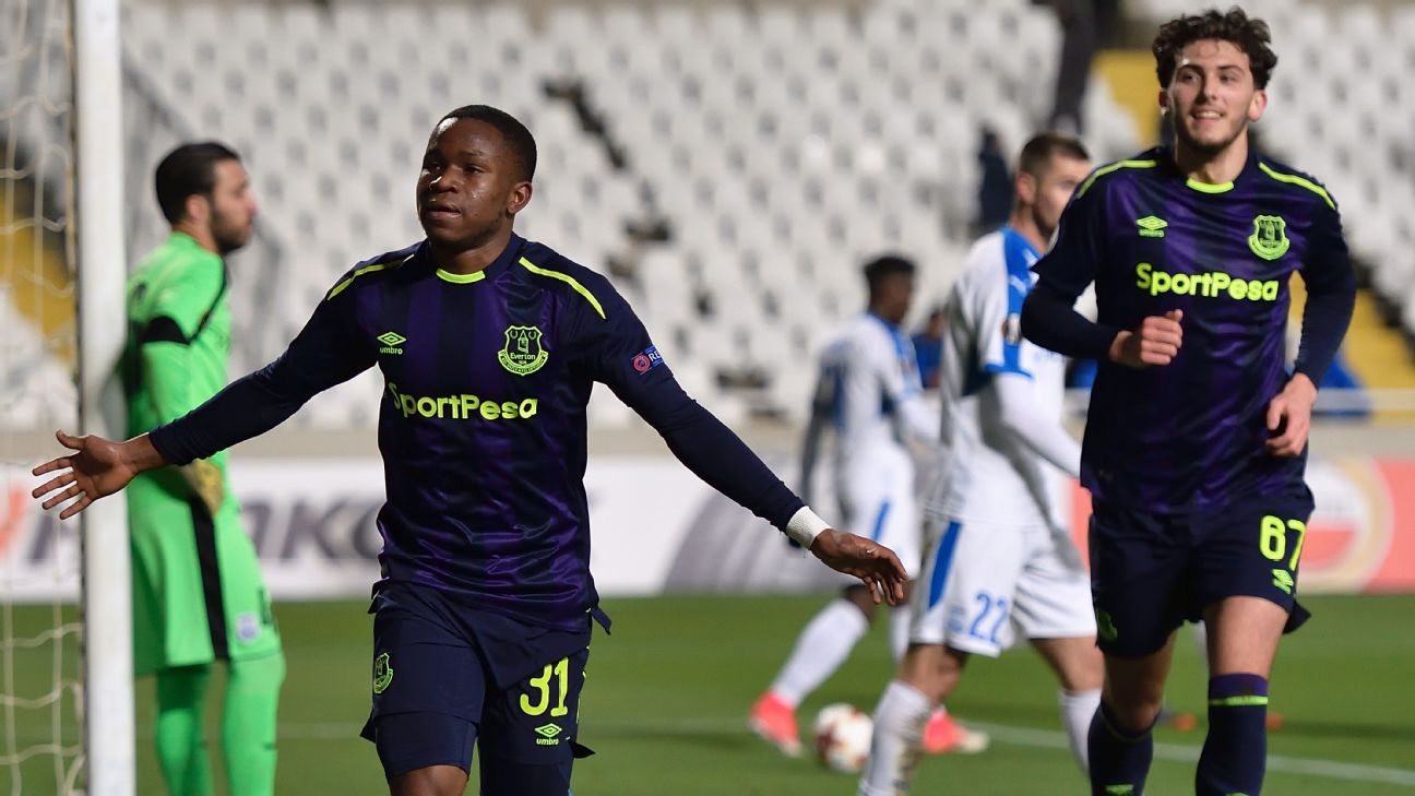 Ademola Lookman at the double as Everton finally win in Europa