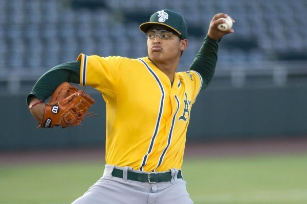 Top A's prospect Luzardo shut down 4-6 weeks