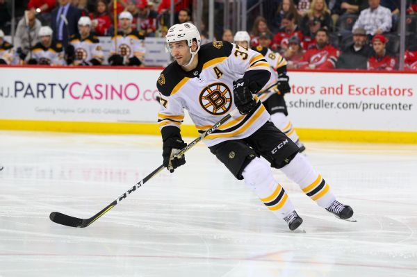 Bruins center Patrice Bergeron out with upper-body injury
