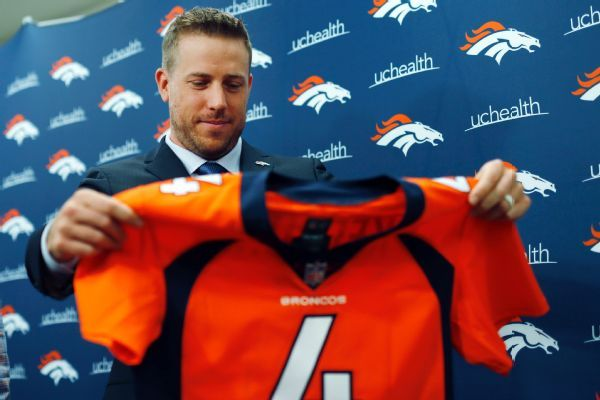 Case Keenum has talked to Broncos GM John Elway, still 'shocked' by Joe Flacco trade