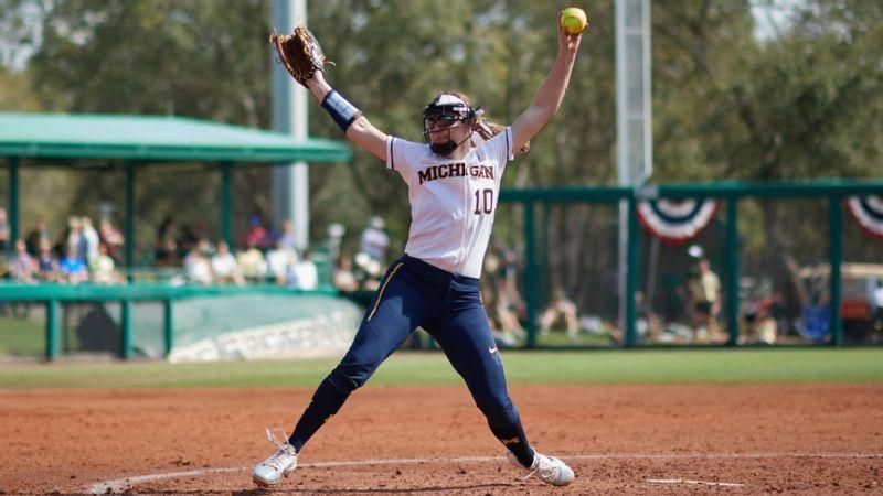 Michigan Softball Schedule 2019 Michigan Wolverines pitcher Meghan Beaubien leads group of