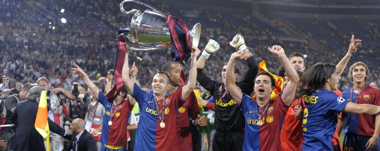 El primer triplete del Barça cumple 10 años