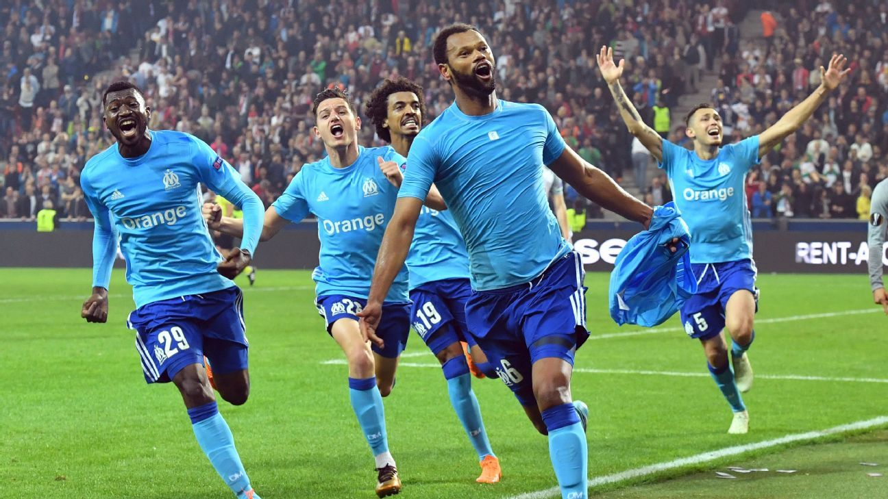 Marseille score in extra-time to set up Europa final with Atletico