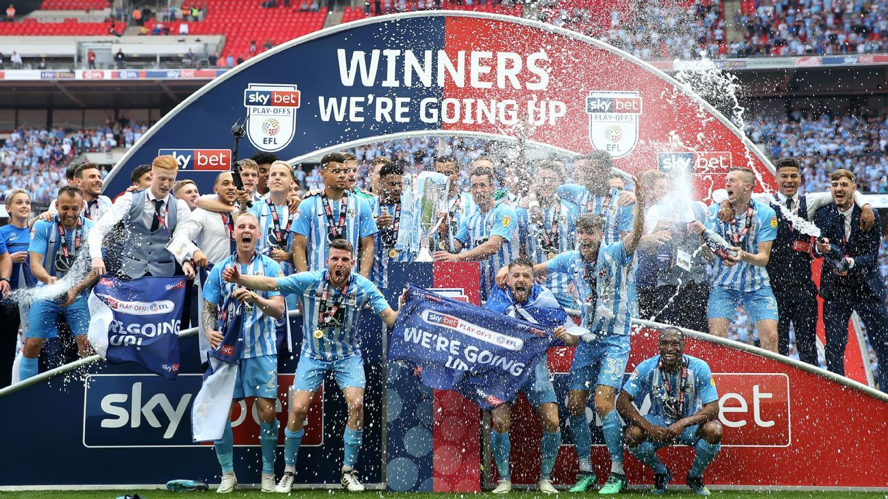 Coventry return to League One as Exeter suffer more playoff misery