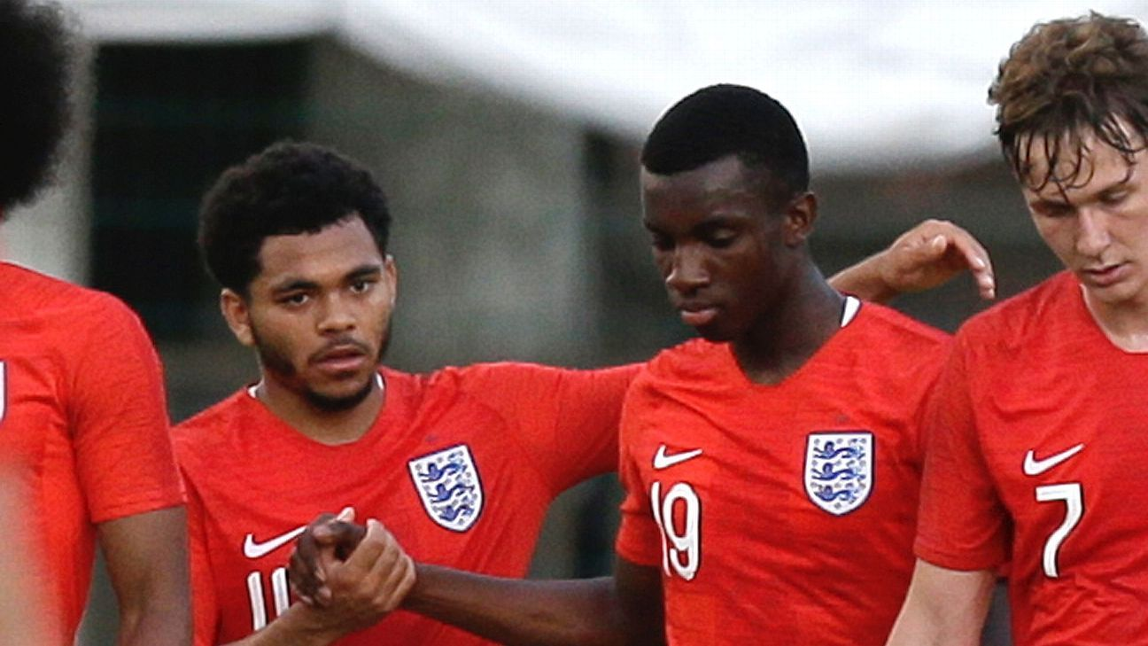 Eddie Nketiah scores two to lead England U21s to Toulon final