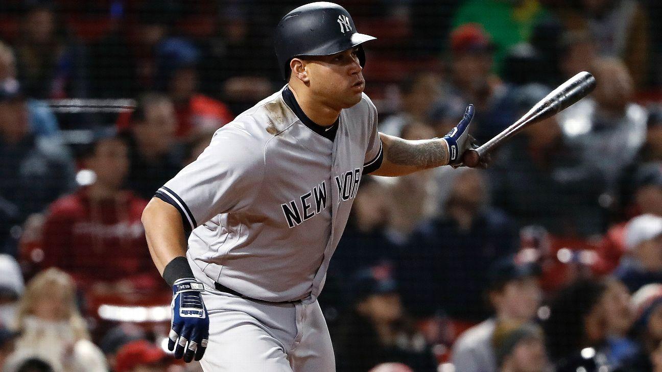 Yankees activa al receptor Gary Sánchez, baja al relevista Chad Green