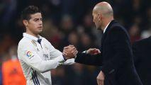 """Zidane: """"James es jugador del Real Madrid, veremos qué pasa..."""""""