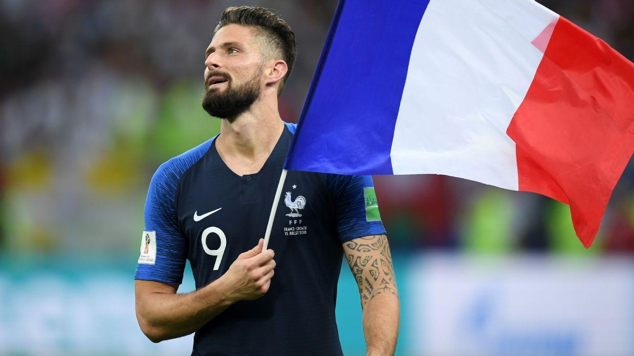 Los 'bleus' campeones del Mundial 2018, reciben la Legión de Honor
