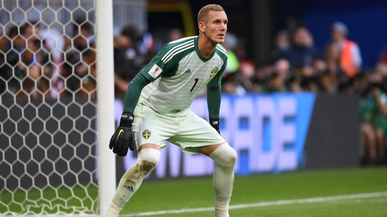Roma sign Robin Olsen as replacement for Liverpool goalkeeper Alisson