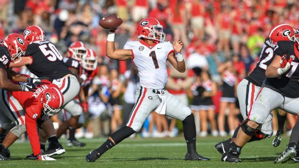 Where could Georgia QB Justin Fields play next?