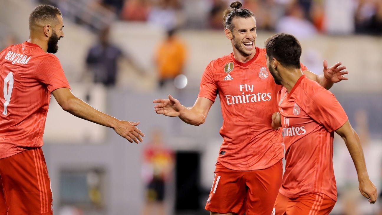 Vinícius Júnior quase anota pintura, e Real Madrid vence Roma com gol e assistência de Bale