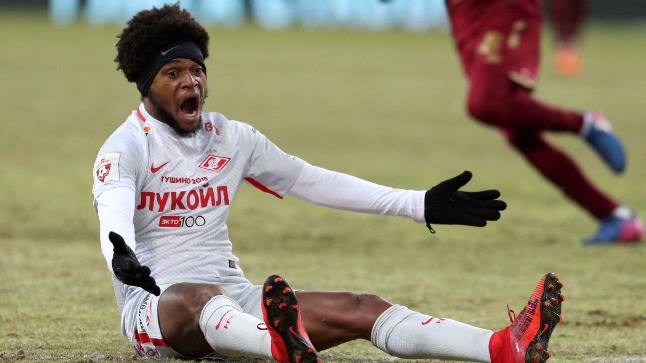 UEFA bans Spartak Moscow's Luiz Adriano three games for hitting opponent