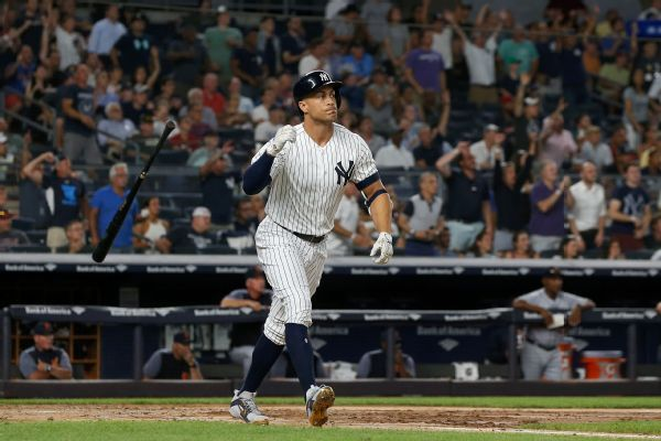Giancarlo Stanton talks about growing comfort in AL, playing games that matter