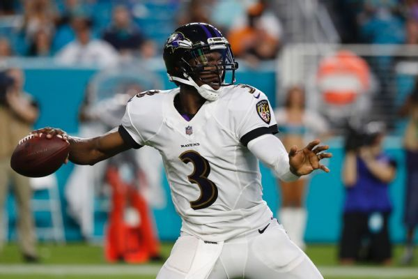 Lamar Jackson absence due to illness leaves RG III as only available Ravens QB at practice Thur.