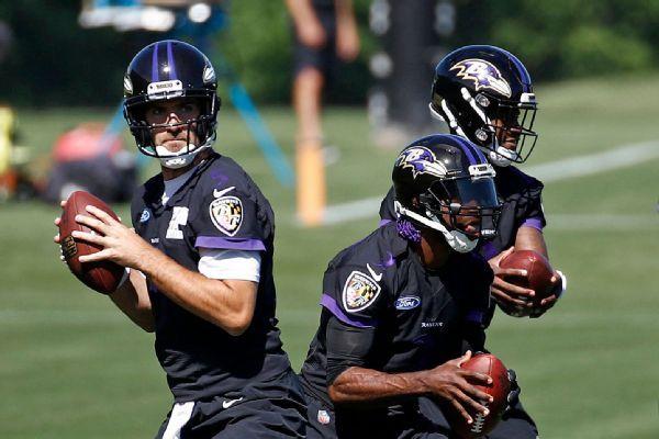 Ravens won't say who will start at QB vs. Bengals