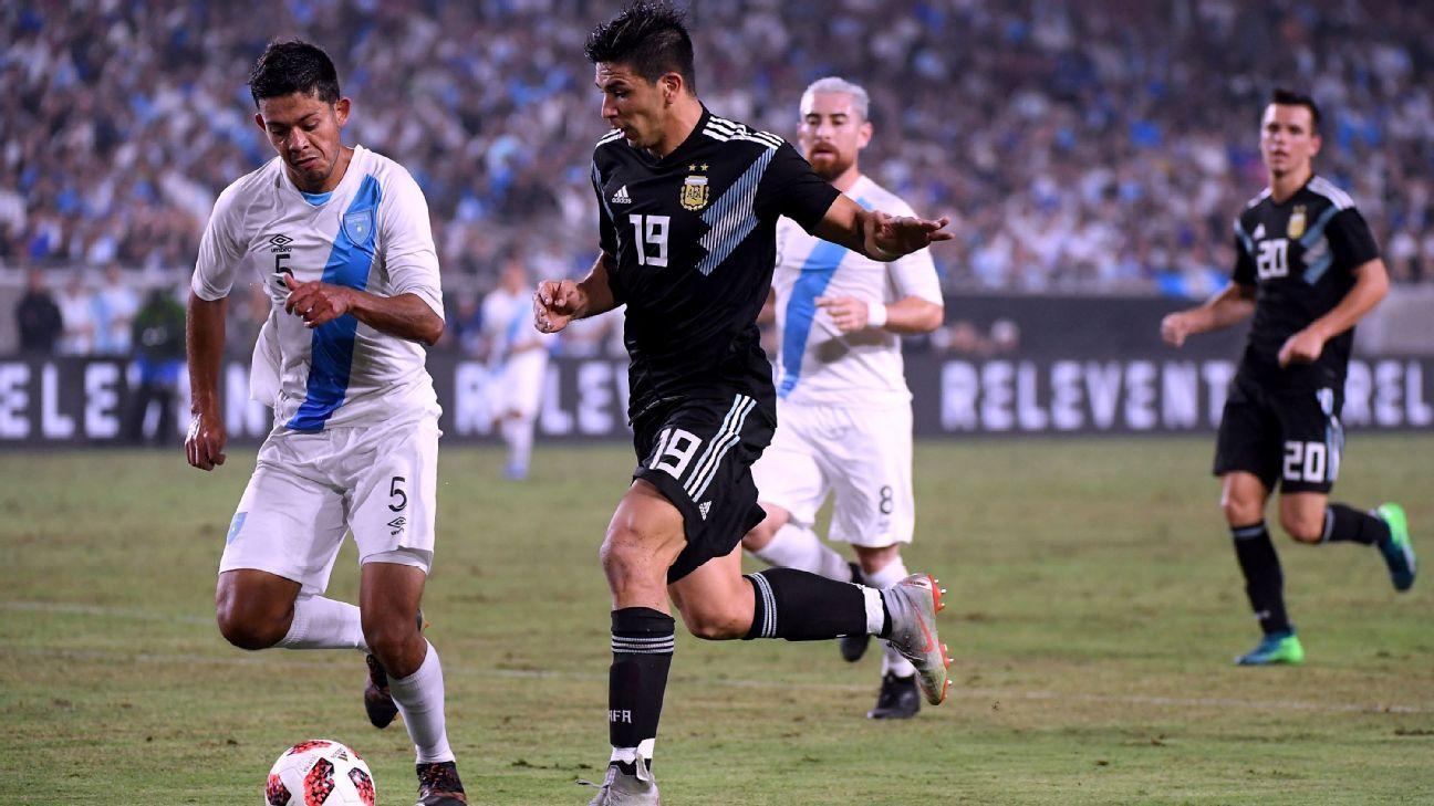 Argentina's Giovanni Simeone scores debut goal in win over Guatemala