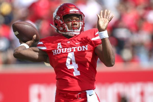 Houston QB D'Eriq King to miss rest of season with torn meniscus