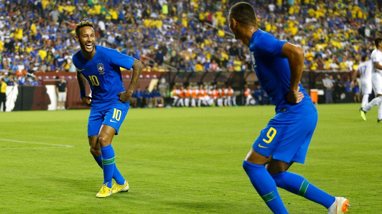 Richarlison brace, goals from Neymar and Coutinho help Brazil ease past El Salvador