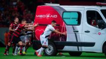 Brazilian opponents give ambulance push-start and get player to hospital