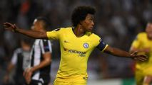 Willian on target as Chelsea stroll to win at PAOK Salonika