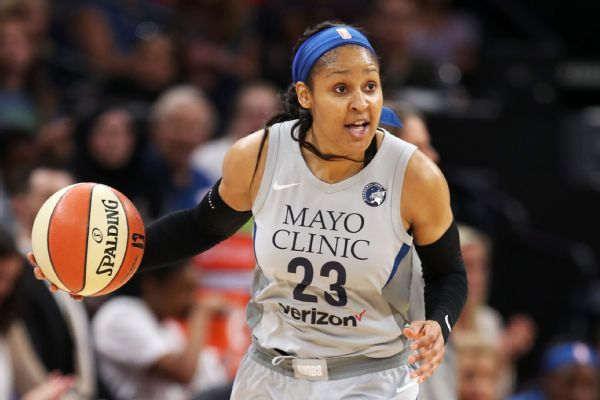 All-Stars Maya Moore, Tina Charles given franchise tags, report says