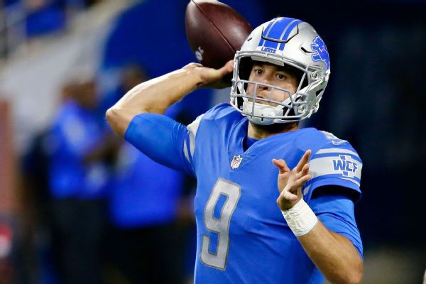 Stafford back with Lions after wife's surgery