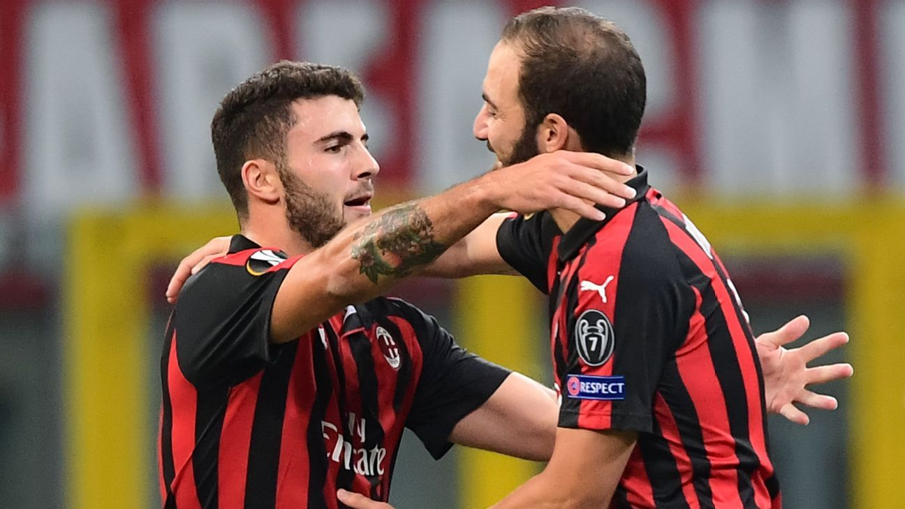 Patrick Cutrone brace helps AC Milan to come-from-behind win over Olympiakos