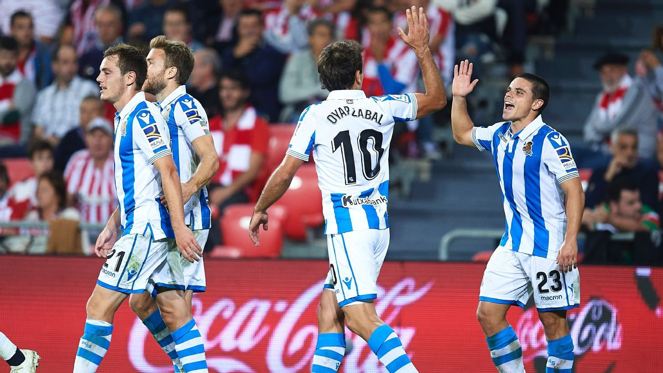 Real Sociedad convert two penalties to beat Athletic Bilbao in Basque derby